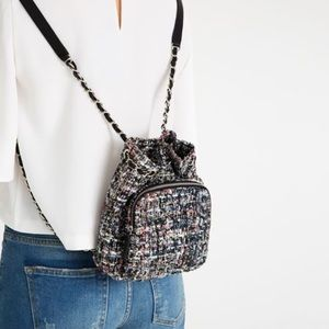 Zara Mini Fabric Quilted Backpack